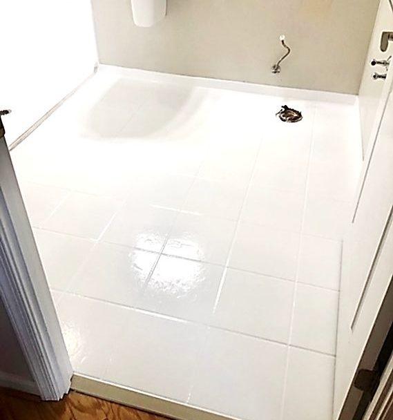 Bathroom Floor Reglaze